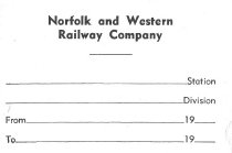 Image of N&W Trk Ck & Seal Rec Label