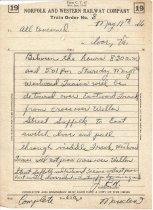 Image of NW Train Order 8, May 19, 1966