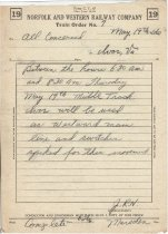 Image of NW Train Order 7, May 19, 1966