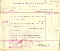 Image of 1908 N&W Bill