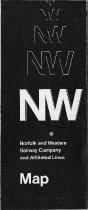 Image of N&W Map Folded - Cover