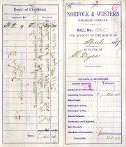 Image of N&W Bill, April 1887