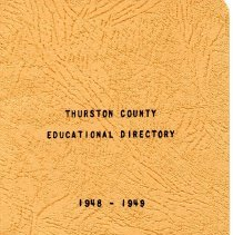 Image of Thurston County Educational Directory 1948 - 1949 - 1948-1949