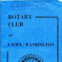 Image of Lacey Rotary List of Members 1971-72