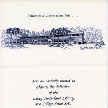 Image of Invitation to Lacey Library dedication