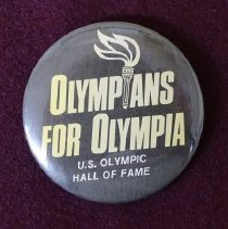 Image of Olympic Hall of Fame in Olympia promotional button
