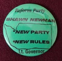 Image of Shawn Newman Lt. Gov. campaign button