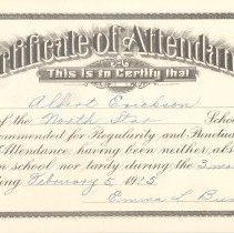 Image of Certificate, Attendance - 1992.022.0013