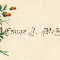 Image of Emma A. McKay Calling Card