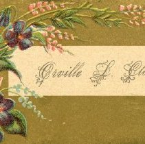 Image of Orville L. Closson Calling Card