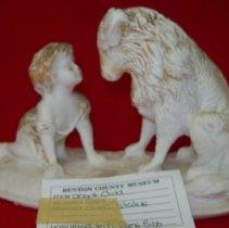 Image of Dog & Child Statue