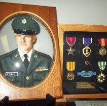 Image of Photo and medals in shadow box