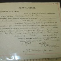 Image of Ferry License