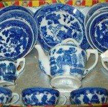 Image of Blue Willow Pattern China Tea Set