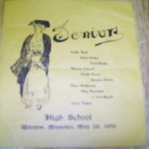 Image of Senior Commencement Program