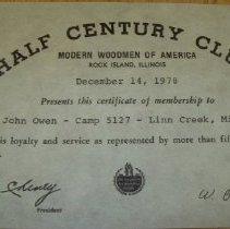 Image of Certificate of Membership