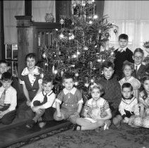 Image of Children around Christmas Tree - 12/25/1935