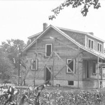 Image of Harry Totten's house under construction (Aug. 13, 1927) - 08/13/1927