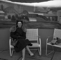Image of Sarah (Jane) on Bench in Kodak Picture Garden - 10/24/1939