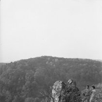 Image of Chimney Rock (with couple) - 10/13/1935