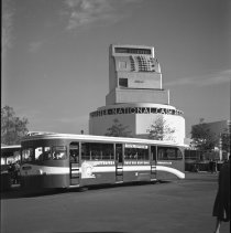 Image of Cash register with Bus in Foreground at New York World's Fair, 1939-1940 - 10/24/1939