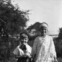 Image of Nina & Ruth Totten in Halloween costumes (2) - 11/02/1930