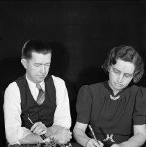 Image of Sarah and Elton, Christmas Card 1938 - 11/19/1938