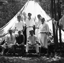 Image of Elton Camping with Coworkers - 07/26/1931