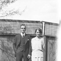 Image of Russell Benatre and Dorothy Zimmermann in the Wade backyard (1) - 04/29/1928