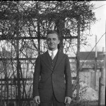 Image of Russell Benatre in the Wade backyard - 04/15/1928