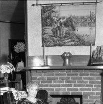 Image of Bertha Totten Sitting by Fireplace 680