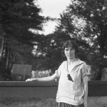 Image of Lelia at railing, 7/10/24 - 07/10/1924
