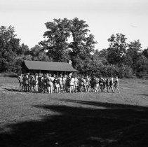 Image of Assembling for dinner at Paradise Falls Girls Camp - 08/12/1938