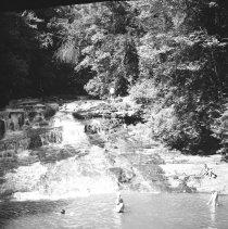 Image of Swimming at Paradise Falls, Pa. - 08/12/1938
