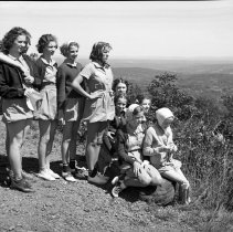 Image of Paradise Falls Girls, Pocono Knob, PA - 08/12/1938