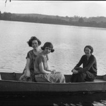 Image of Ladies on a lake - 10/14/1923