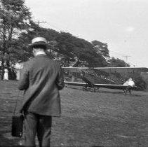 Image of Biplane take off - 8/24/1919?