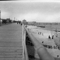 Image of Long Branch boardwalk and shore - 8/24/1919