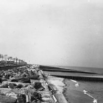 Image of Jersey Shoreline with train tracks - 8/24/1919