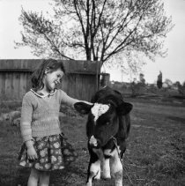 Image of Rhea Wade with Calf (6) - 04/24/1938