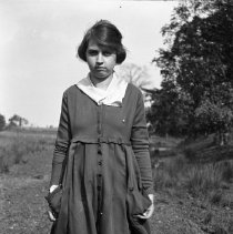 Image of Sarah Wade in a field (1) - 1918-1920