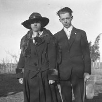 Image of Elton and Sarah Wade in a field - 03/02/1918?
