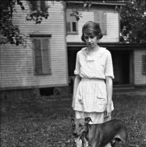 Image of Sarah and Dog - ca. 1920