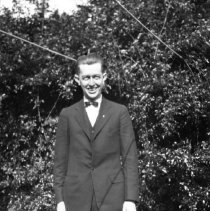 Image of Elton by hedge - ca. 1920