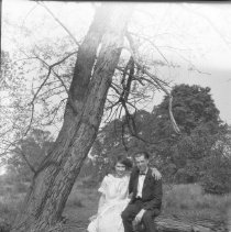 Image of Sarah and Elton, defying gravity - ca. 1920