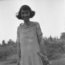 Image of Sarah outside - ca. 1920