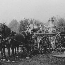 Image of Fire Engine at the Harmer Rubber Reclaiming Factory Fire, East Millstone, NJ (1912) - 1912