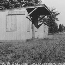 Image of Railroad Station, Middlebush, NJ (c. 1930s) - 08/05/1933