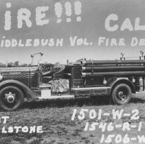 Image of Fire Engine, Middlebush, NJ (c. 1950s) -