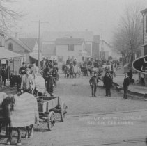 Image of Railroad Crossing, East Millstone, NJ (1909) - 1909